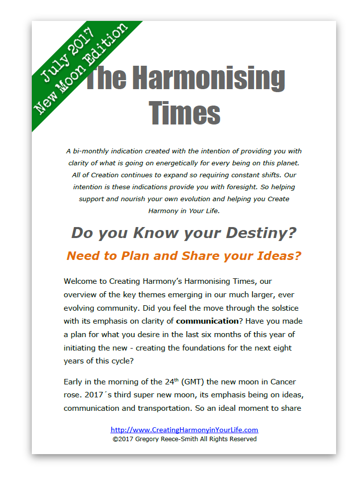 harmonising times new moon edition july 2017 from creating harmony in your life