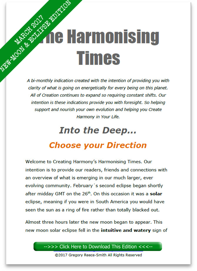 Harmonising Times March 2017 New Moon Edition