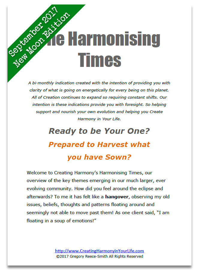 Harmonising Times Sept New Moon